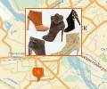Где находятся магазины обуви в Новосибирске?
